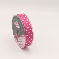 POINTED PRINTED GROGREN RIBBON